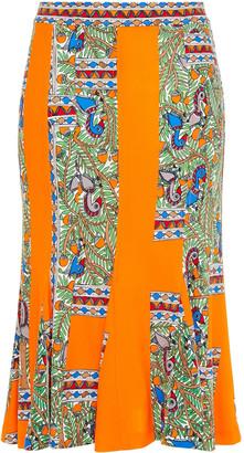 Tory Burch Jada Printed Jersey Skirt