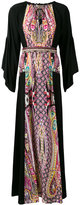 Etro paisley insert kaftan dress - women - Silk/Cotton/Viscose - 40
