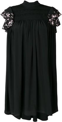No.21 ruffle sleeve shift dress