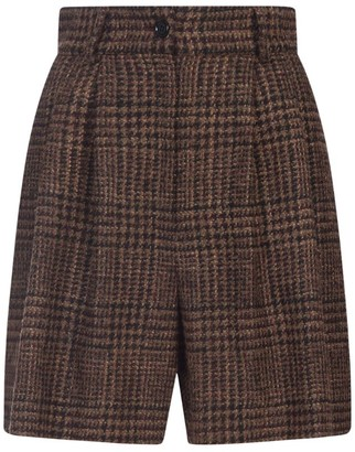 Dolce & Gabbana Check Wide-Leg Shorts