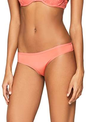 Iris & Lilly Women's Body Smooth Brazilian Brief, Pack of 5, (Bright 11-0601tcx), (Manufacturer size: Small)