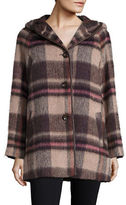 Pendleton Hooded Plaid Wool-Blend Coat