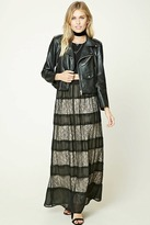 Forever 21 FOREVER 21+ Contemporary Lace Maxi Skirt