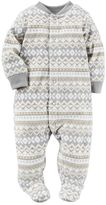Carter's Baby Boy Print Fleece Sleep & Play
