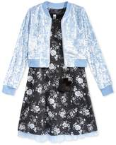 Beautees 2-Pc. Floral Shift Dress and Bomber Jacket Set, Big Girls (7-16)