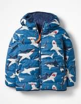 Boden Reversible Fun Puffer Jacket