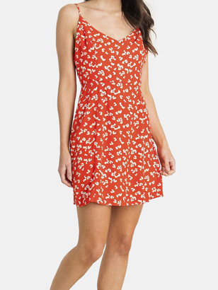 Lush Open Tie Back Printed Mini Dress