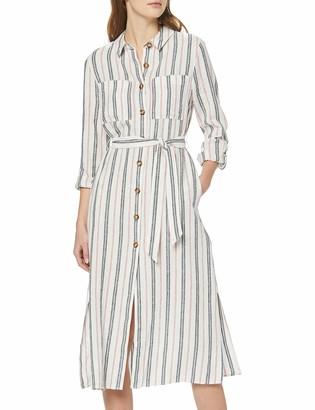 Find. Amazon Brand Women's Midi Linen Shirt Dress