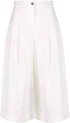 Barba Wide-Leg Linen Shorts