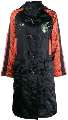 Jean Paul Gaultier Pre-Owned 1990's diamond quilted hooded coat