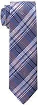 U.S. Polo Assn. Men's White Twill Plaid Tie