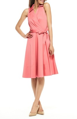 Gal Meets Glam Fit & Flare Wrap Dress