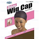 Dream Deluxe Wig Cap Brown 2 pc (Model: 097 BROWN), Spandex cap, Wig cap, Mesh cap, Snood, Hair net, Fish net