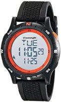 Freestyle Unisex 10017007 Navigator Digital Black Watch with Orange Accents
