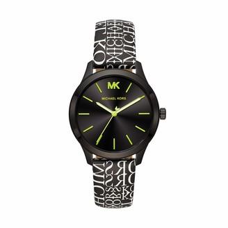 Michael Kors Women's Runway Stainless Steel Quartz Watch with Leather Strap Multi 18 (Model: MK2847)