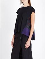Sacai Calligraphy-print linen-jersey t-shirt