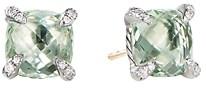 David Yurman Sterling Silver Chatelaine Stud Earrings with Prasiolite & Diamonds