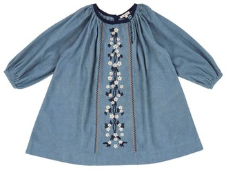 Caramel Floral Embroidered Nightjar Dress (3-6 Years)