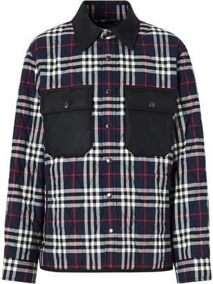 Burberry Quilted Checked Shirt Jacket