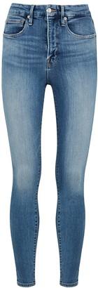 Good American Good Waist blue skinny jeans