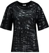 Kenzo Appliquéd Coated Cotton T-Shirt