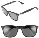 Persol Men's Officina 56Mm Polarized Sungasses - Black/ Green