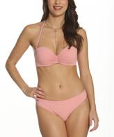 Pixie Pier Women's Bikini Bottoms Soft - Soft Peach Bandeau Bikini Top & Bottoms - Women