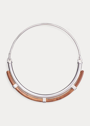 Ralph Lauren Layered Wood Collar Necklace