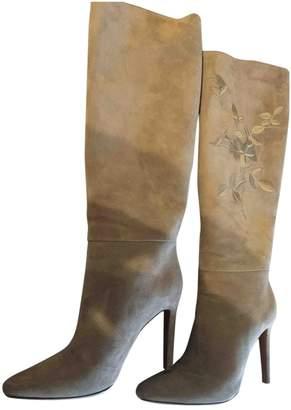 Ralph Lauren Beige Leather Boots