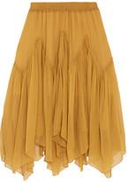 Chloé Silk-crepon Skirt - Saffron