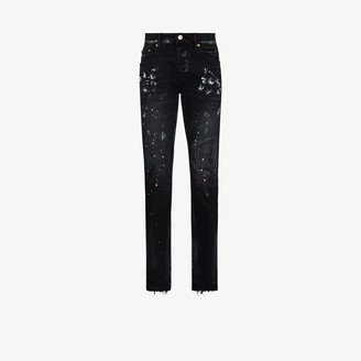 Purple Brand P001 paint repair skinny jeans