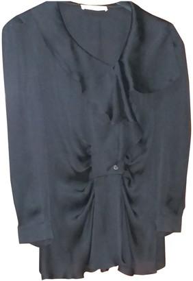 Prada Black Silk Tops