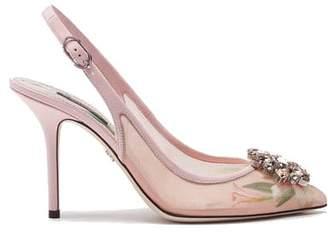 Dolce & Gabbana Slingback Heel 99 Chrytal Insert