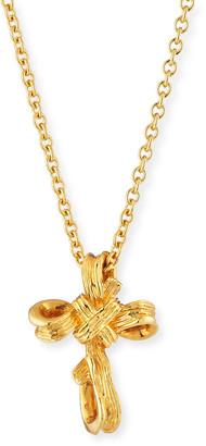 Michael Aram 18k Palm Small Cross Pendant Necklace