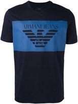 Armani Jeans logo print T-shirt - men - Cotton - XXL