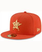 New Era Houston Astros Team On Metallic 59FIFTY Cap