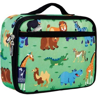 Olive Kids Wild Animals Green Insulated Lunch Box for Boys and Girls