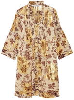 Diane von Furstenberg Layla metallic silk-blend chiffon mini dress