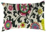 Jordan Outdoor Throw Pillow Set Manufacturing Multi-colored Bright Pink Yellow Green Black