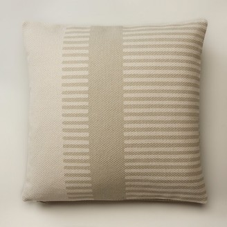 """Oui Combo Stripe Ivory Pillow Cover 18"""" X 18"""""""