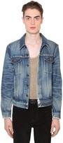 Saint Laurent Destroyed Classic Cotton Denim Jacket