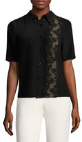 Tracy Reese Silk Lace Inset Shirt