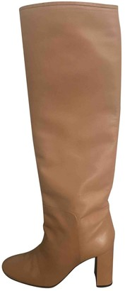 Celine Madame Camel Leather Boots