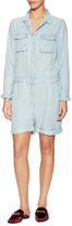 The Kooples Spread Collar Denim Romper