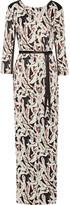 Karl Lagerfeld Printed crepe de chine maxi dress