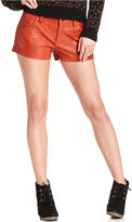 Free People Shorts, Faux-Leather Colored