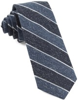The Tie Bar Serene Blue Splattered Repp Stripe Tie