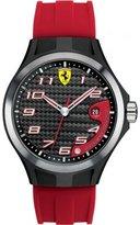 Ferrari Scuderia 0830014 Mens Lap Time Black and Red Rubber Watch
