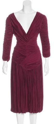 Burberry Plissé Midi Dress
