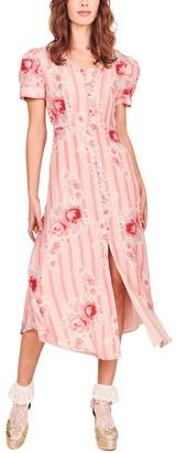 LoveShackFancy Patrice Silk Dress